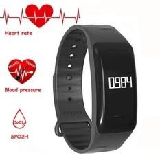 NEWYES Tekanan Darah Smart Watch Fitness Tracker NBS04 Gelang dengan SPO2H Monitor Detak Jantung Tidur Manajemen Pedometer dengan OLED Touch Layar untuk Android IOS Smartphone (Hitam) -Intl