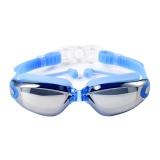 Cara Beli Niceeshop Kacamata Renang 700 D With Siam Telinga Plugs Perlindungan Uv Anti Kabut Terbaik Dewasa Swim Goggles Biru