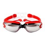 Iklan Niceeshop 700D Swimming Goggles With Siam Telinga Plugs Perlindungan Uv Anti Kabut Terbaik Dewasa Berenang Kacamata Merah