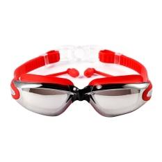 Niceeshop 700D Swimming Goggles With Siam Telinga Plugs Perlindungan Uv Anti Kabut Terbaik Dewasa Berenang Kacamata Merah Niceeshop Diskon 50