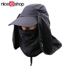 Harga Niceeshop Matahari Musim Panas Melindungi Leher Topeng Diproduksi Dengan Strip Baja Disket Mengebaskan Topi Helm Abu Abu Gelap Yg Bagus