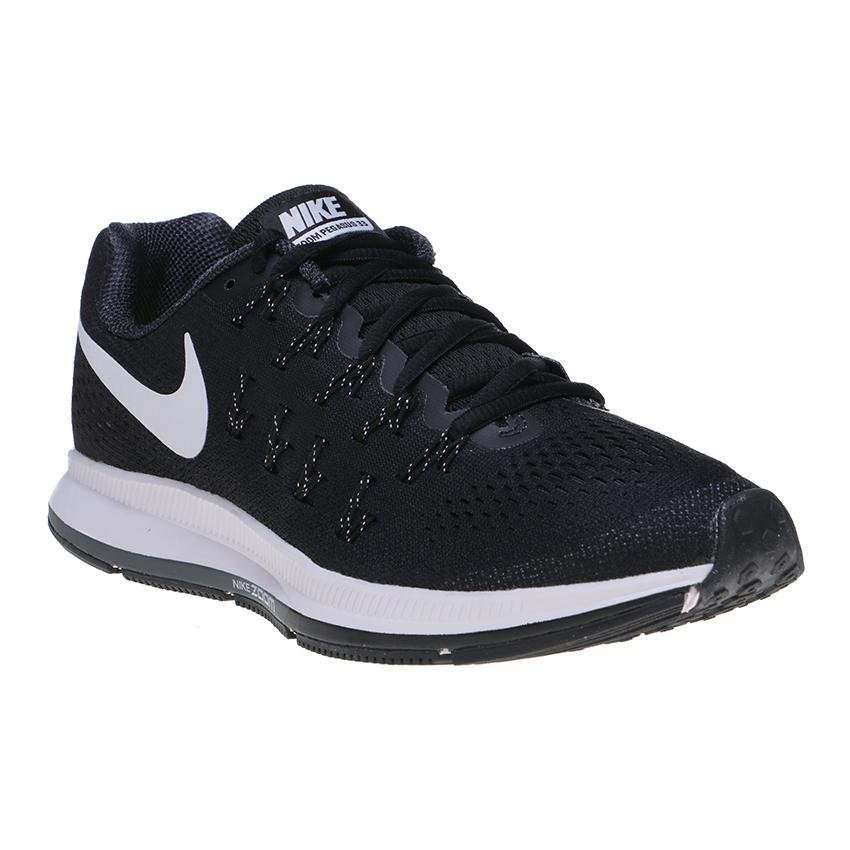 Harga Nike Air Zoom Pegasus 33 Women S Running Shoes Black White Anthracite Cool Grey Paling Murah