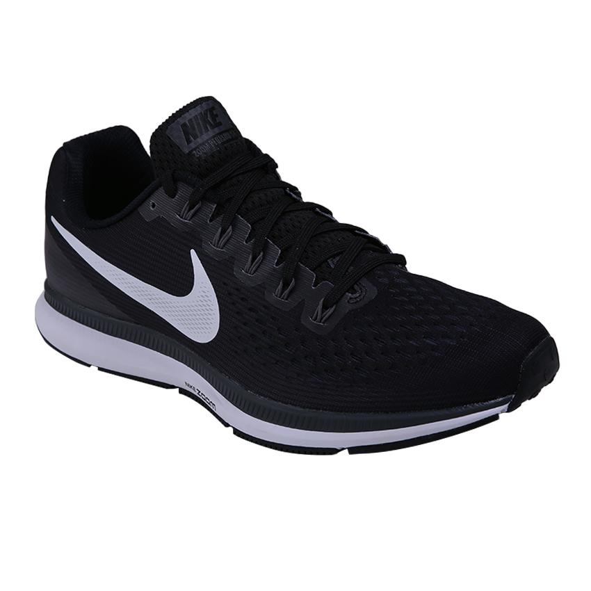 Harga Nike Air Zoom Pegasus 34 Sepatu Lari Pria Black White Darkanthrac Merk Nike