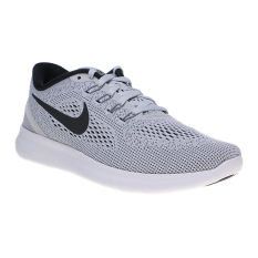 Beli Nike Free Rn Men S Running Shoes White Black Pure Platinum Seken