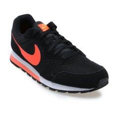 Jual Beli Online Nike Md Runner 2 Sepatu Lari Pria Black Total Crimson Laser Orange White