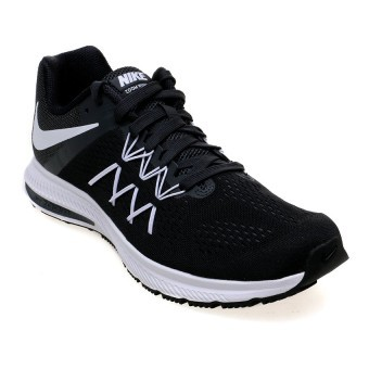 Jual Nike Men S Air Zoom Winflo 3 Running Shoes Black White Anthracite Lengkap