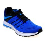 Jual Nike Men S Air Zoom Winflo 3 Running Shoes Racer Blue Blue Glow Black White Indonesia