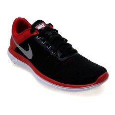 Diskon Nike Men S Flex 2016 Rn Running Shoes Black Metallic Silver University Red White Indonesia
