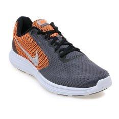 Nike Revolution 3 Sepatu Lari Pria- Dark Grey-Metallic Silver-Black-Wolf Grey
