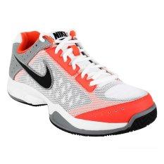 Nike Sepatu Lari Air Cage Court White Orange Grey Original