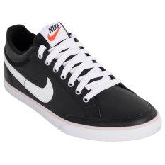 Nike Sepatu Lari Capri Iii Low Leather Black White Asli