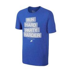 Beli Nike Tee Ru Run Repeat Tee Biru Nike Murah