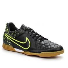Nike Tiempo Rio II IC 631523007-Sepatu Futsal- Black/Volt