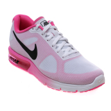 Nike Women S Air Max Sequent Running Shoes White Black Pink Blast Nike Diskon 50