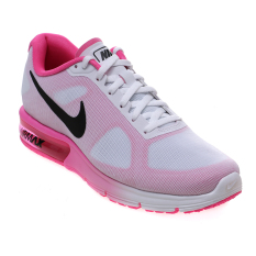 Promo Nike Women S Air Max Sequent Running Shoes White Black Pink Blast Indonesia