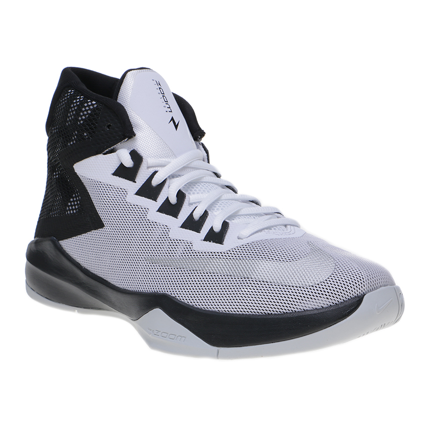 Toko Nike Zoom Devosion Men S Basketball Shoes White Metallic Silver Black Lengkap Indonesia