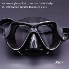 Tidak Nearsight Optik Corrective Scuba Dive Snorkeling Masker Lensa Resep Anti-kabut & Anti Bocor Renang Kacamata untuk Orang Dewasa dan Remaja (Hitam/Biru/Merah Muda/Kuning) -Internasional