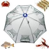 Nylon Fishing Net Portable Hexagon 8 Lubang Otomatis Fishing Perangkap Udang Ikan Minnow Kepiting Umpan Cast Mesh Net 93 93 Cm Intl Tiongkok