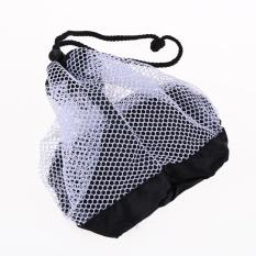 Nilon Mesh Tas Pouch Holder Carrying Jaring Tenis Bola Penutupan Golfball Bag-Intl