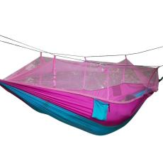 Oanda Satu Orang Tempat Tidur Gantung Portable Kekuatan Tinggi Tempat Tidur Gantung Kain dengan Kelambu Nyamuk