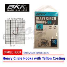 Obral Murah BKK Heavy Circle Hooks Size 6 - Teflon Coating - Mata Kail Isi 10 pcs
