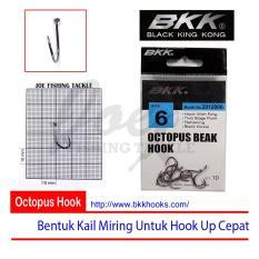 Obral Murah BKK Size 6 Octopus Beak Hook - Mata Kail Pancing Tajam & Kuat