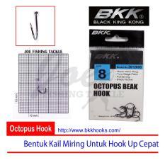 Obral Murah BKK Size 8 Octopus Beak Hook - Mata Kail Pancing Tajam & Kuat