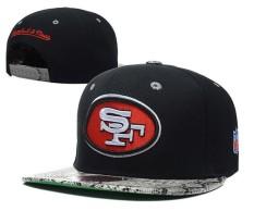 [Resmi] Sport Topi Fashion NFL San Francisco 49ers Pria Wanita Football Topi Unisex Sneakers Snapback Bordir Hip Hop Casual (Hitam) -Intl