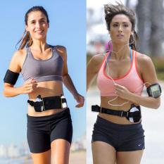 Spesifikasi Olahraga Lari Pinggang Pack Pemegang Sabuk Pinggang Perjalanan Lanting Tas Kantong Dengan Dua Botol Air Hitam Lengkap Dengan Harga