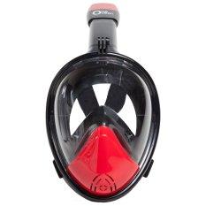 Diskon Besarone Ocean Full Face Snorkeling Mask New Design 4 Size L Xl Black Red