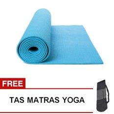 Spesifikasi Oranyejersey Matras Yoga Mat Flexflit 6Mm Biru Muda Tas Terbaru