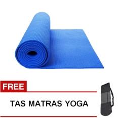 Spesifikasi Oranyejersey Matras Yoga Mat Flexflit 6Mm Biru Tua Tas Online