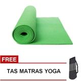 Jual Oranyejersey Matras Yoga Mat Flexflit 6Mm Hijau Tas Import