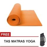 Harga Termurah Oranyejersey Matras Yoga Mat Flexflit 6Mm Oranye Tas