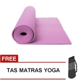 Harga Oranyejersey Matras Yoga Mat Flexflit 6Mm Ungu Muda Tas Fullset Murah