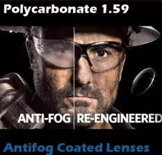 ORIGINAL Lensa Antifog Polycarbonate Kacamata Safety Minus 1.59