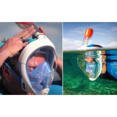 Jual Original Tribord Easybreath Snorkeling Mask Full Face Snorkel Ed7D6E Di Bawah Harga