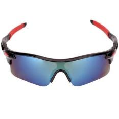 Ormano Sport Outdoor UV400 Protection HM Sunglasses Kacamata Sepeda Hiking Motor Adventure Olahraga 9181 - Hitam Merah