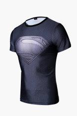 Spesifikasi Superman Logo Man Kemeja Kompresi Perbedaan Abu Abu Bagus