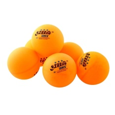Outdoor 6 Pcs 3 Bintang DHS 40mm Olimpiade Tenis Orange Ping Pong Balls Pelatihan Tahan Lama-Intl