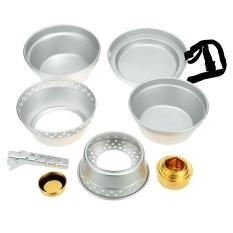 Spesifikasi Outdoor Camping Hiking Cookware Cooking Picnic Pot Pan Set Stove Set Alcohol Stove Intl Lengkap