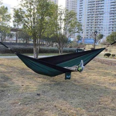 Review Outdoor Camping Hiking Hammock Hanging Belt Stripe 3M With 2 Metal Buckle Hool Intl Terbaru