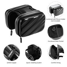 Outdoor Bersepeda Hiking Riding ROAD Sepeda MTB City Bike Bicycle Front Frame Bag Pack Pouch Hitam 2