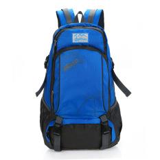 Diskon Produk Outdoor Double Shoulder Travel Ransel Tas Kasual Pack Camping Hiking Nilon Tahan Air Biru Internasional
