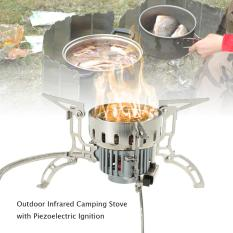 Outdoor Infrared Camping Stove Ultralight Portable Furnace Collapsible Windproof Gas Stove Mini Burner for Cookout Picnic Hiking Backpacking - intl