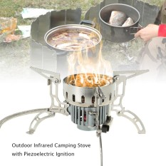 Inframerah Luar Ruangan Kemah Kompor Ultralight Portabel Tungku Kompor Gas Tahan Angin Mini Burner untuk Cookout Picnic Daki Gunung Backpacking-Internasional
