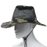 Spesifikasi Outdoor Mesh Sunshade Fishing Bucket Hat Cap Camouflage Merk Oem