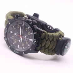 Luar Ruangan Militer Paracord Survival Sport Berenang Pergelangan Tangan Jam Tangan Taktis Gelang-Internasional