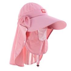 Kolam Cepat Kering Bulat Matahari Helm Bernapas Mesh Masker Bonnie Topi Lipat Topi Sunbonnet 98% UV Perlindungan UPF50 Musim Panas Hat (Merah Muda)