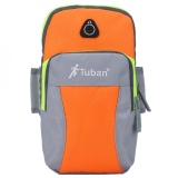Beli Outdoor Menjalankan Latihan Lengan Tas Olahraga Wrist Pouch Armband Phone Case Oranye Abu Abu L Intl Online Murah
